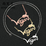 Vegan Stainless Steel Necklace & Ring in Silver, Gold and Rose Gold Tone, Great Gift! Great MESSAGE!-The Pink Pigs, A Compassionate Boutique