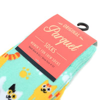 Women's Kitten Cat Crew Socks, So Cute for the Cat Lovers!