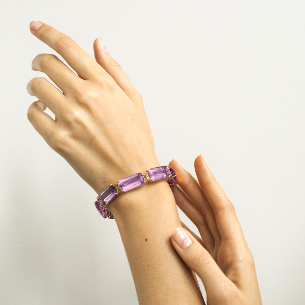 Amethyst Cushion Bracelet