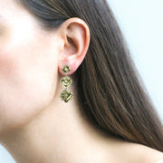 Prasiolite Cushion Earrings