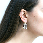 Rock Crystal Old Cushion Earrings