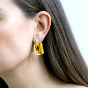Citrine Old Cushion Earrings