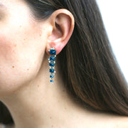London Blue Topaz Sugarloaf Cascade Earrings