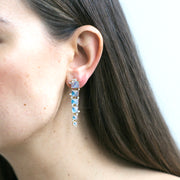 Moon quartz Sugarloaf Cascade Earrings