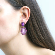 Lavender Amethyst, Amethyst And Pink Sapphire Earrings