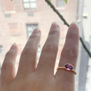 Amethyst Faceted Oval Ring