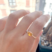 Citrine Faceted Oval Ring