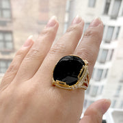 Onyx Crown Ring