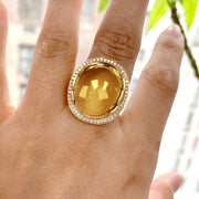 Citrine Oval Cabochon Ring
