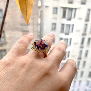 Amethyst Octagon Ring with Diamonds
