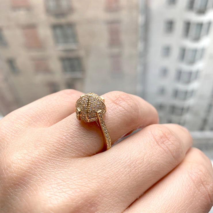 Diamond Sugarloaf Pave Ring