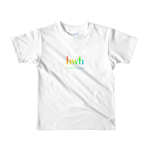 Girls & Boys 2-6 Years | Youth Short Sleeve 100% Cotton T | RAINBOW