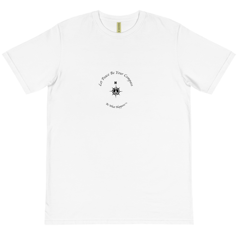 UNISEX SHORT SLEEVE 100% ORGANIC COTTON Tee | Let Peace Be Your Compass