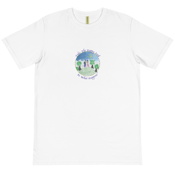 UNISEX SHORT SLEEVE 100% ORGANIC COTTON T | TAKE THE HAPPY PATH