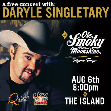 Free Concert with Daryle Singletary August 6th at Pigeon Forge