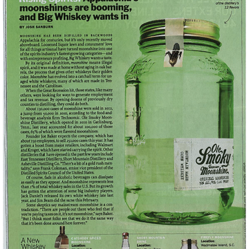 Appalachia's Moonshines are Booming, and Big Whiskey wants in | TIME Magazine