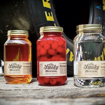 "Ole Smoky Moonshine ""Official Moonshine""  At Daytona and Talladega"