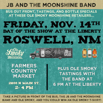 JB AND THE MOONSHINE BAND HIT ROSWELL, NM!