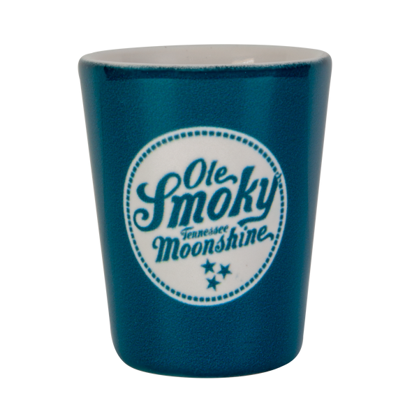 2OZ MOSAIC BLUE SHOT GLASS