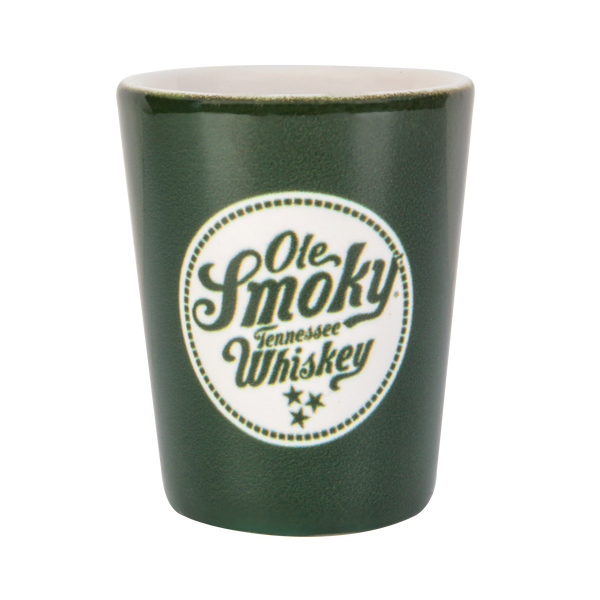 2OZ GREEN SHOT GLASS