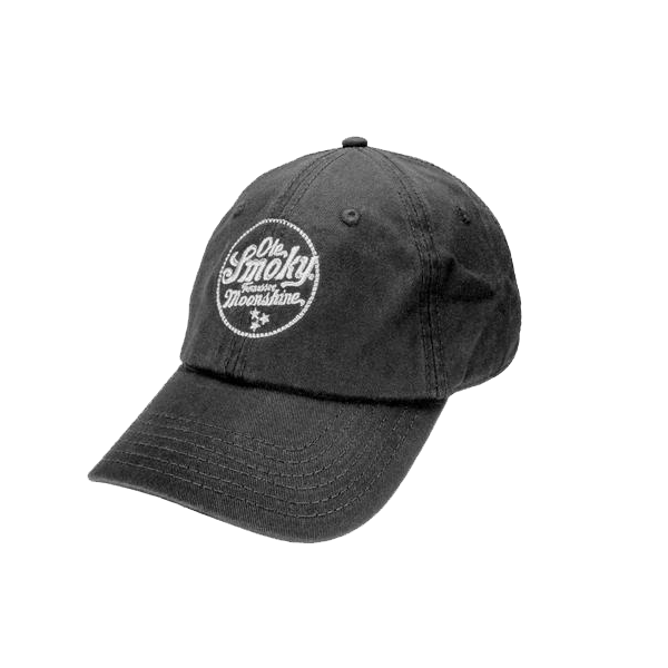 MOONSHINE BLACK CIRCLE LOGO HAT
