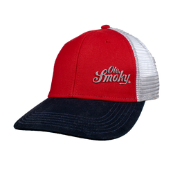 Ole Smoky Red, NAVY, & SILVER HAT