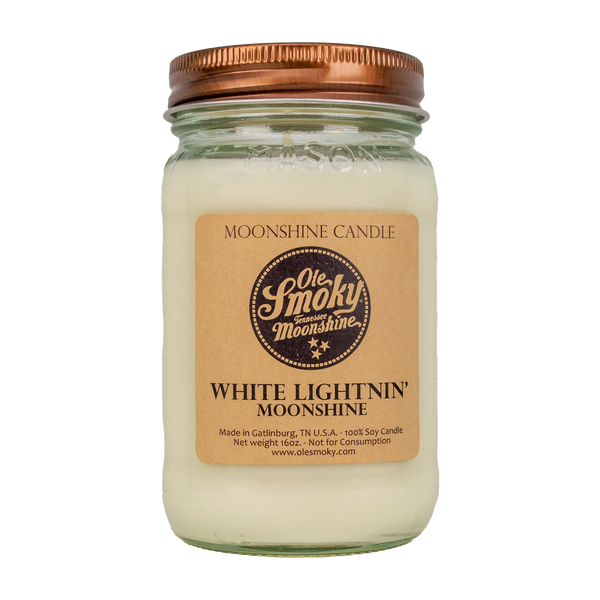 White Lightnin' Soy Candle