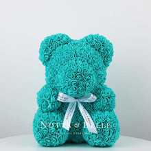 Load image into Gallery viewer, Turquoise teddy rose - 14 in.
