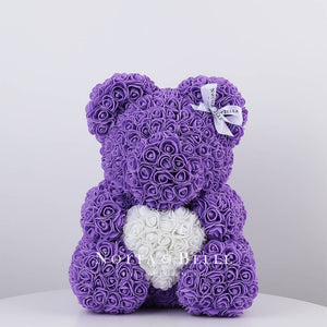 Purple Rose Bears with a heart - 14 in.