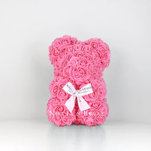 Load image into Gallery viewer, Pink Rose Bear - 25 cm
