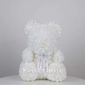 White teddy rose - 14 in.