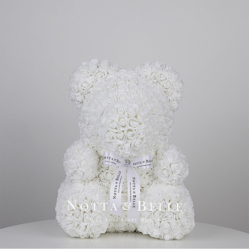 White Rose Bear - 35 cm