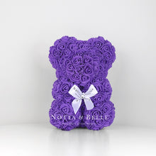 Load image into Gallery viewer, Purple flower bear - 10 in.