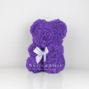 Beautiful Purple flower bear - 10 in.