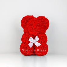 Load image into Gallery viewer, Red flower bear - 10 in.