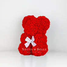 Load image into Gallery viewer, Beautiful Red flower bear - 10 in.
