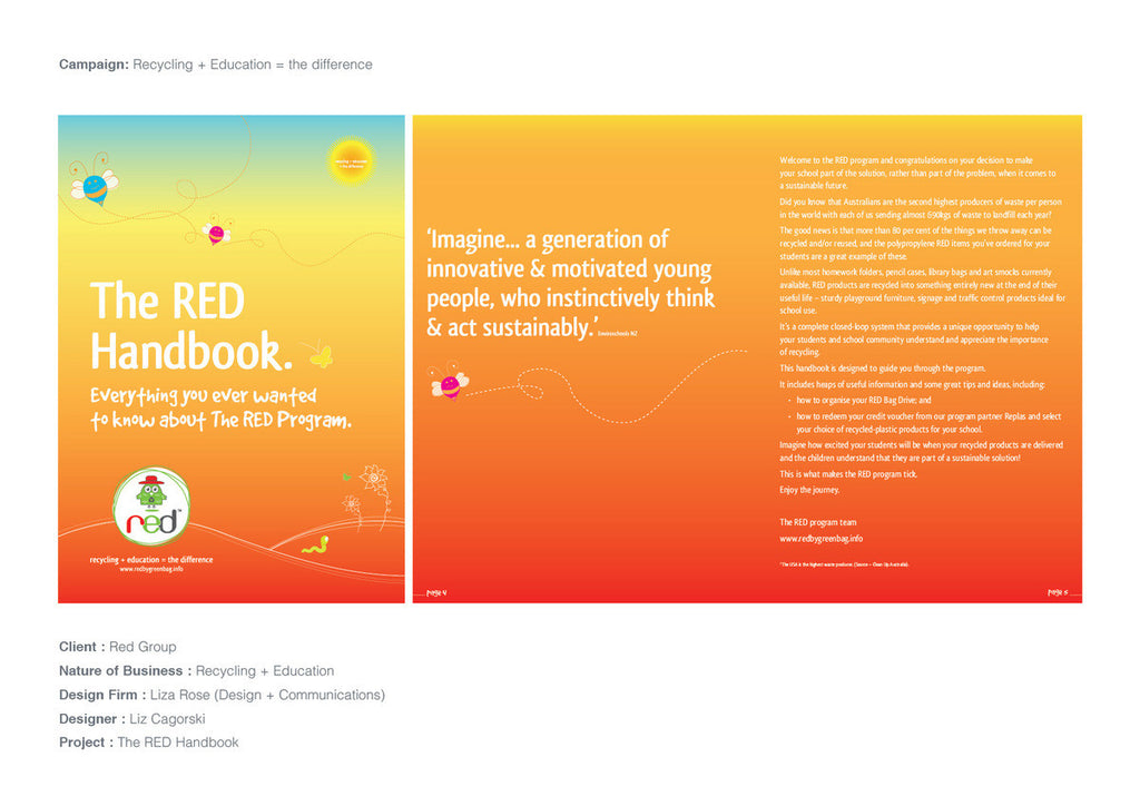 RedCycle Handbook - Brochure Design