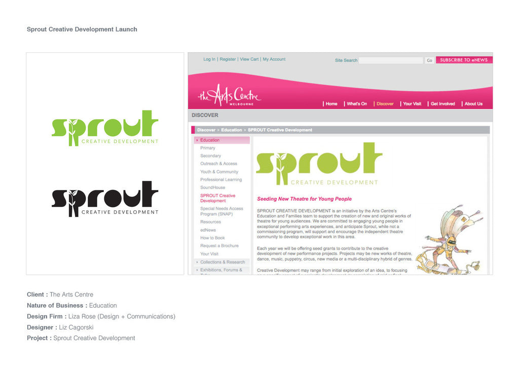 Logo Design - Sprout Creative - The Arts Centre Melbourne