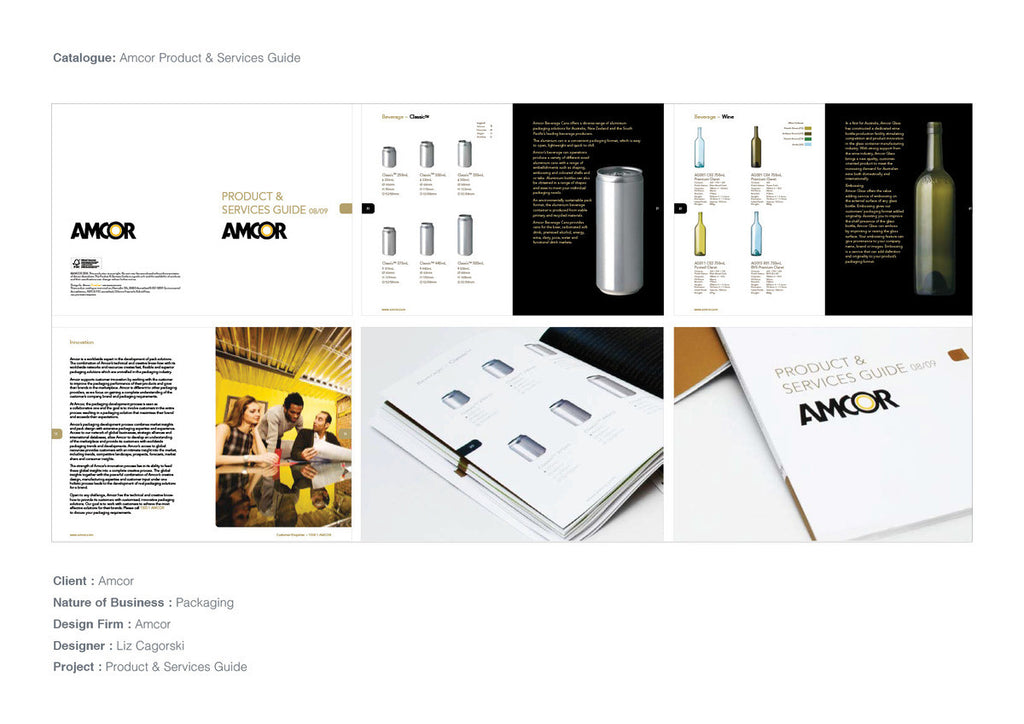 Amcor Catalogue Design & Art Direction