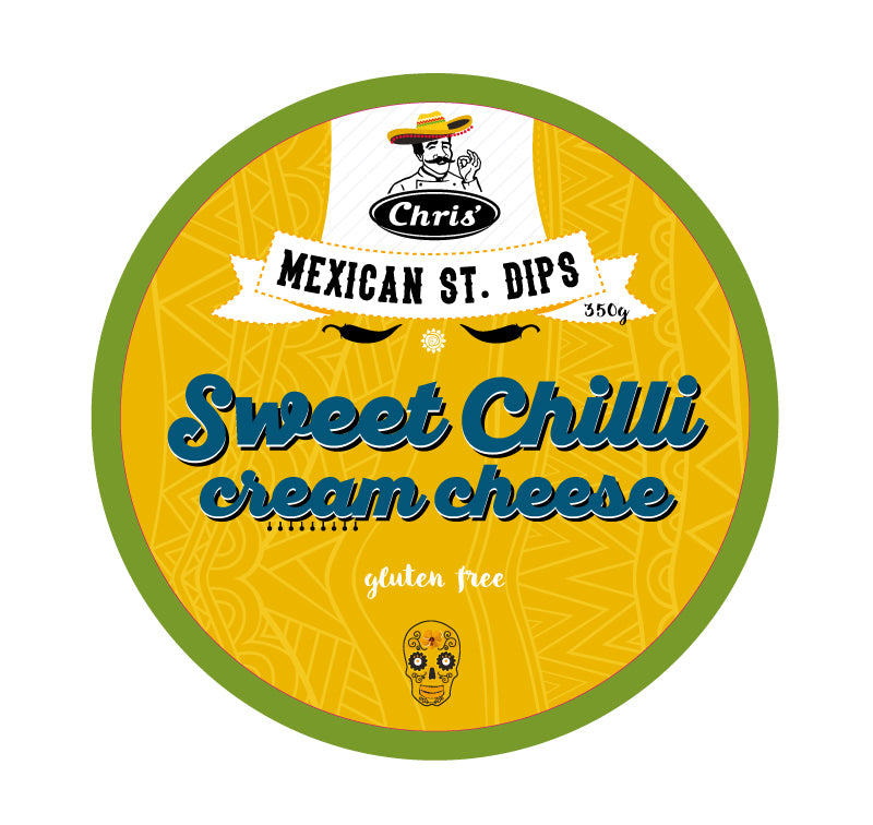 Chris' Mexican Street Dips - Tex Mex - Packaging Design - Creative Direction