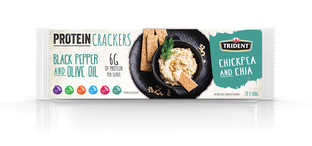 Trident Protein Crackers