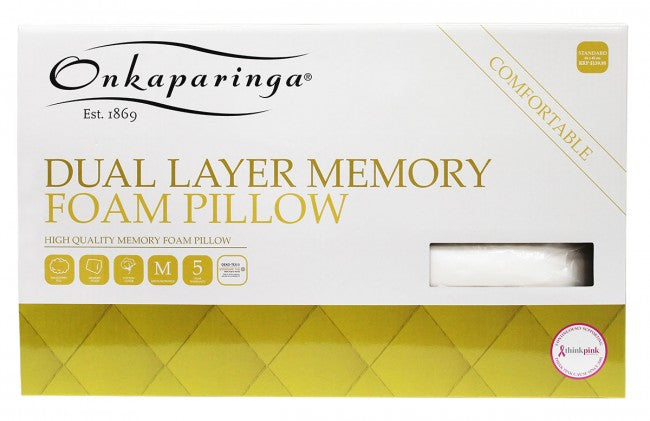 ONKAPARINGA - DUAL LAYER LATEX PILLOW RANGE
