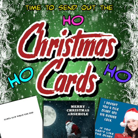 Funny, hilarious & rude Christmas cards