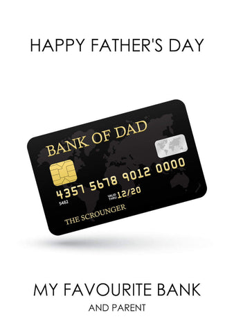 Funny Father's Day Card - Bank Of Dad