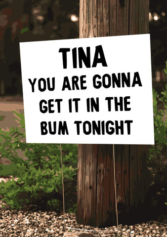 Bum Tonight Tina