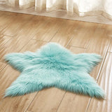 Flauschiger Stern Faux Fur Teppich - Walk of Fame
