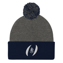 Load image into Gallery viewer, B U Elite Logo Pom Beanie