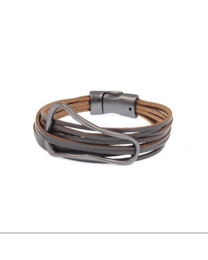 Oval Leather Bracelet