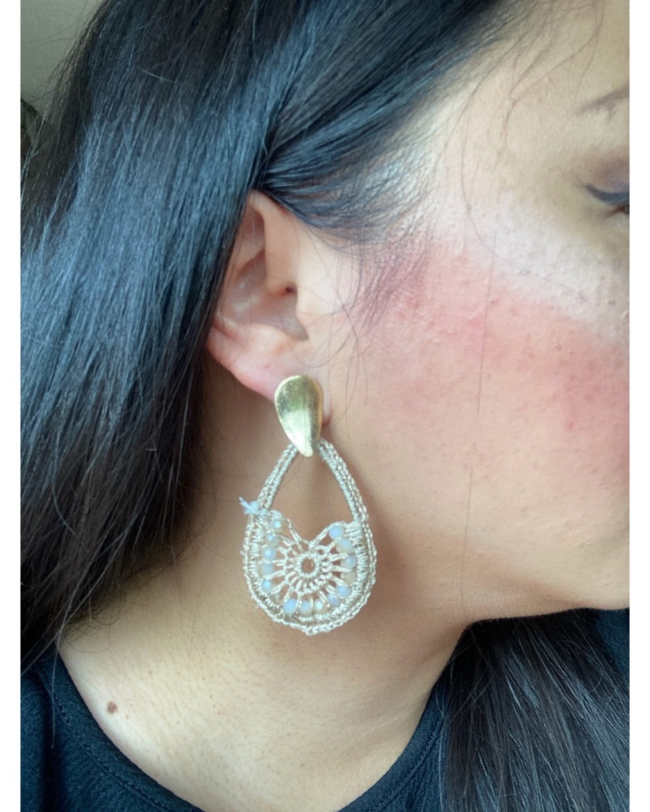 Teardrop Crochet Earrings