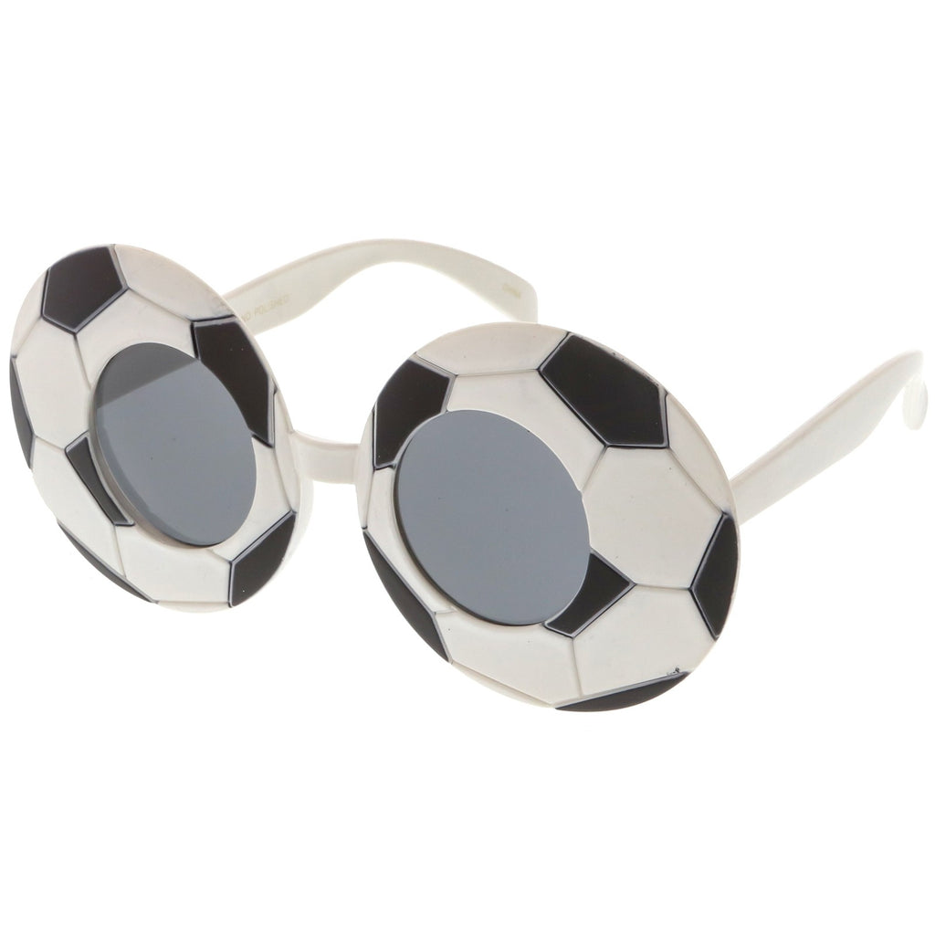 Sports Soccer Sunglasses With Round Lens